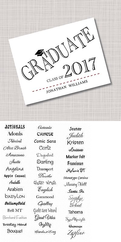 Greeting Cards and Invitations 170098 Personalized Graduate - graduation thank you letter