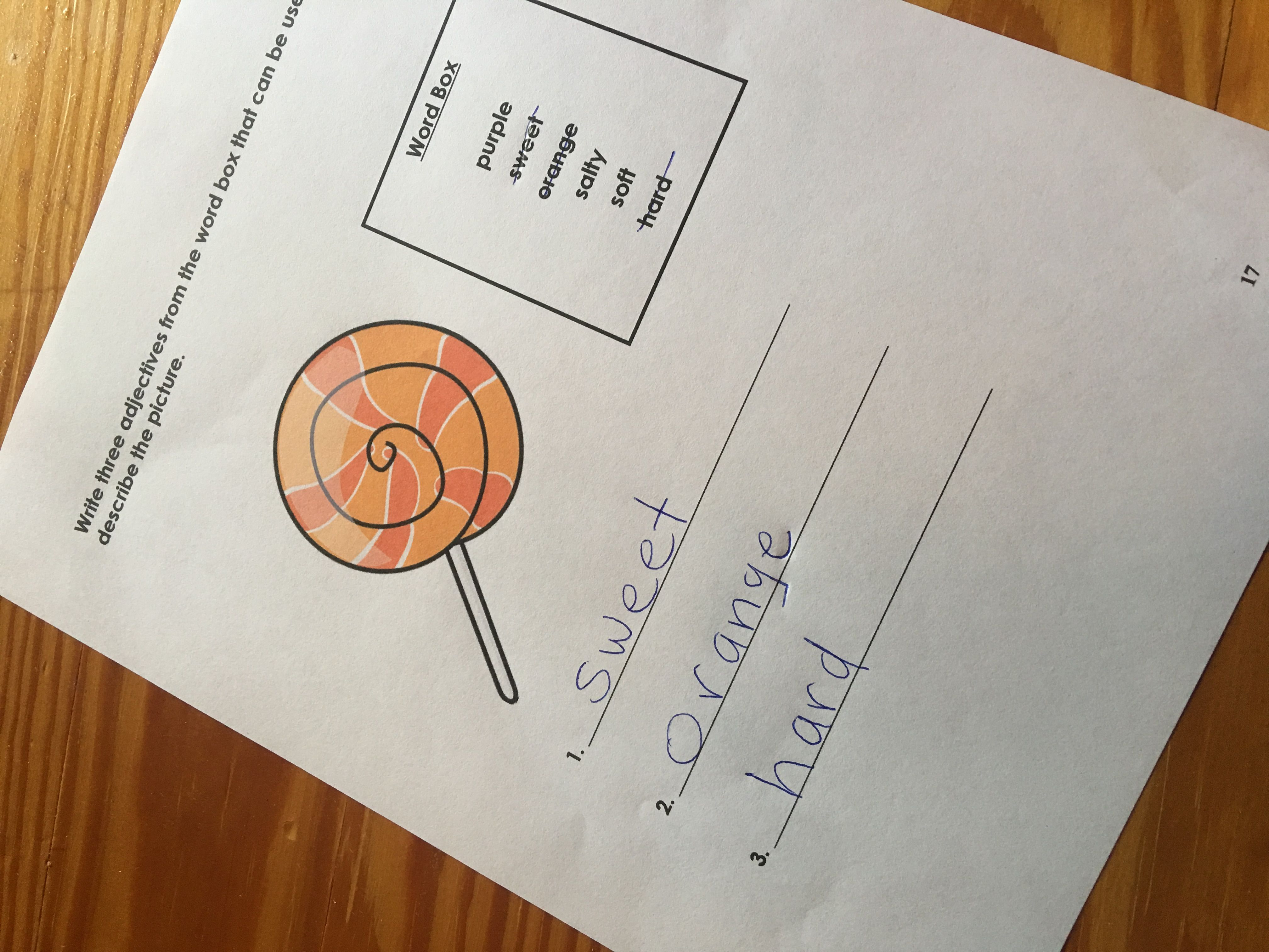 Easy Adjectives Worksheets Autism Aba In