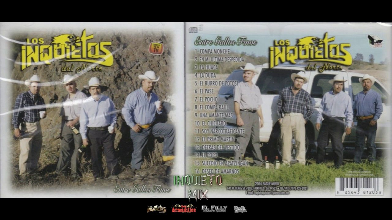 Los Inquietos Del Norte Entre Gallos Finos Album Completo Los