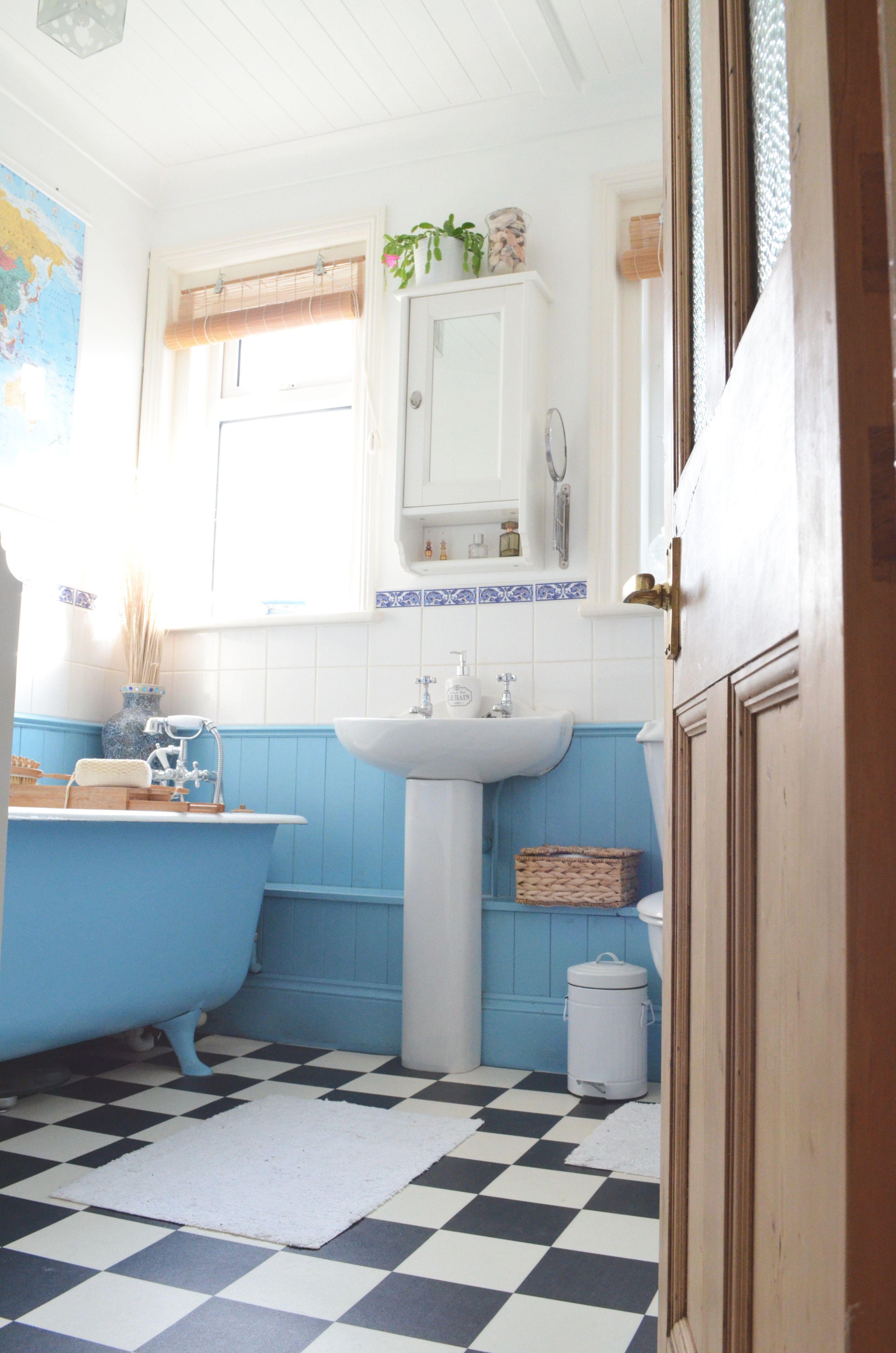 Decocharm bathroom makeover #bathroom #blue #white #traditional | My ...