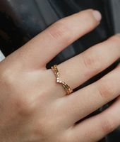Photo of Diamond wedding band vintage women yellow gold unique dainty art deco antique wedding ring je…