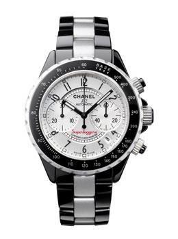 Chanel j12 Superleggera 41mm Automatic. Chronograph certified chronometer (COSC), black high-tech ceramic and aluminum.