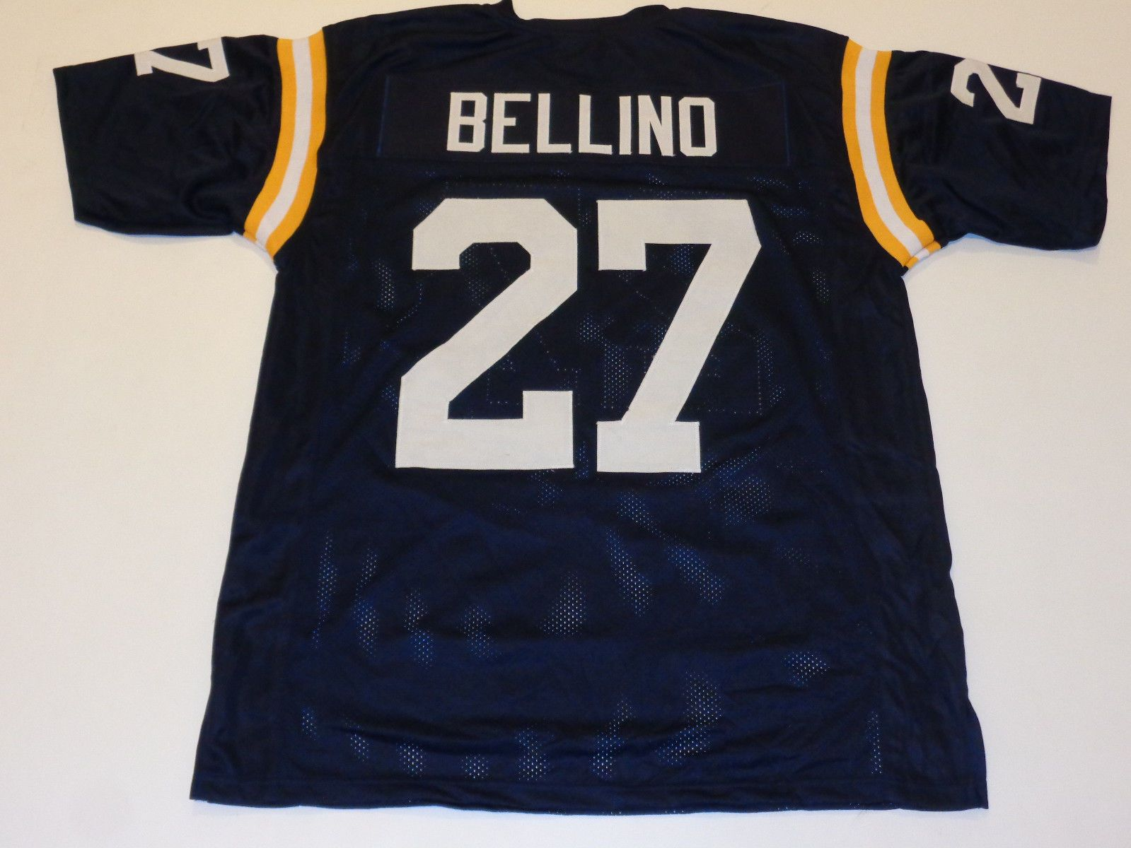 JOE BELLINO unsigned blue college style jersey adult mens XL