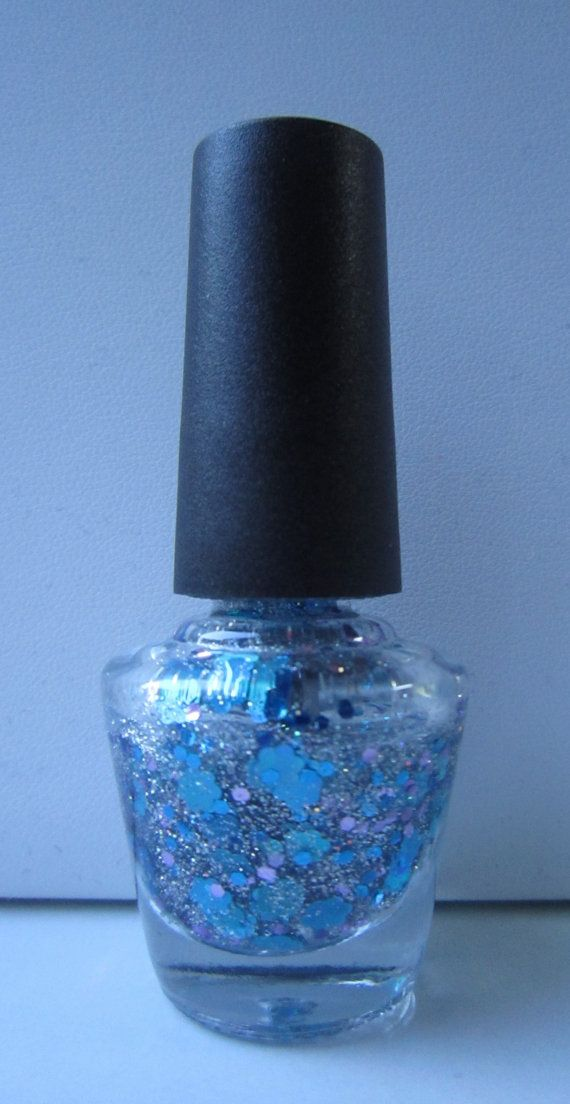 Floral Me Custom Made Franken #nailpolish #nailart #customnail #glitter #glitteraddict #frankenpolish #sparkle