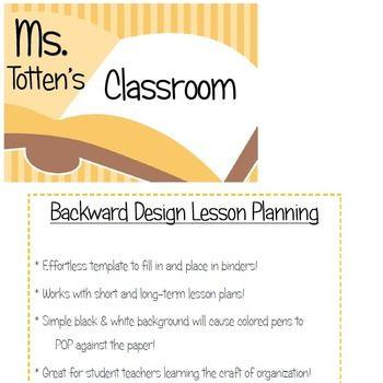 Backward Design - Lesson Plan Template Lesson plan templates and - siop lesson plan templat