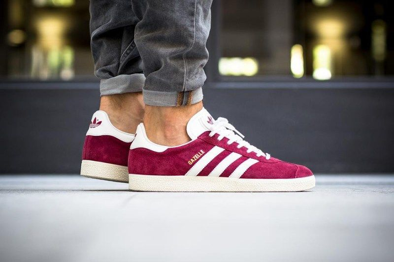 fe1faeba928a Suede Wine Sneakers - These Casual Burgundy adidas Sneakers Feature Artful  Branding on the Sides (GALLERY)