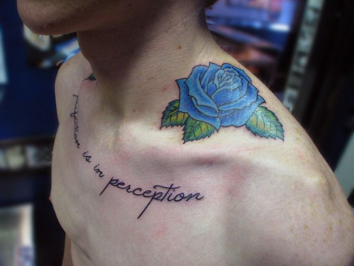 Shoulder Blue Rose Tattoo For Men Cool Man Tattoos Rose Tattoos For Men Tattoos For Guys Blue Rose Tattoos