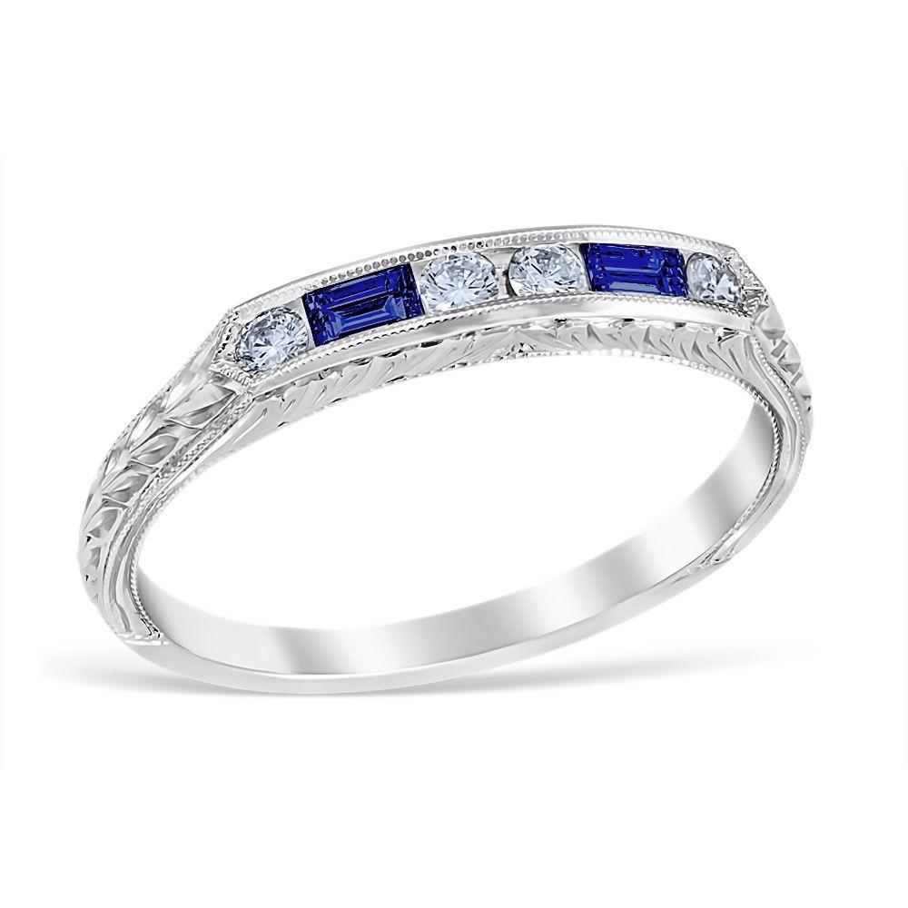 37++ Sapphire wedding rings vintage info