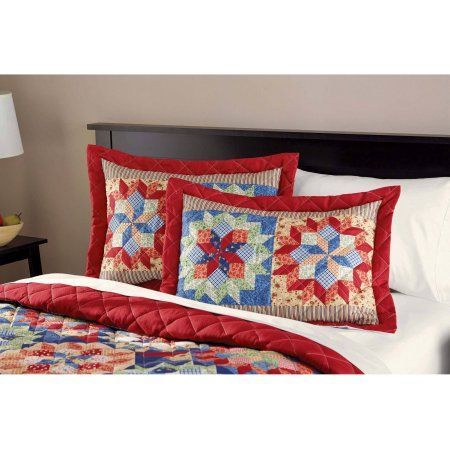 Shooting Star Quilt Multicolor Red Bedding Quilted Bedspreads Quilts
