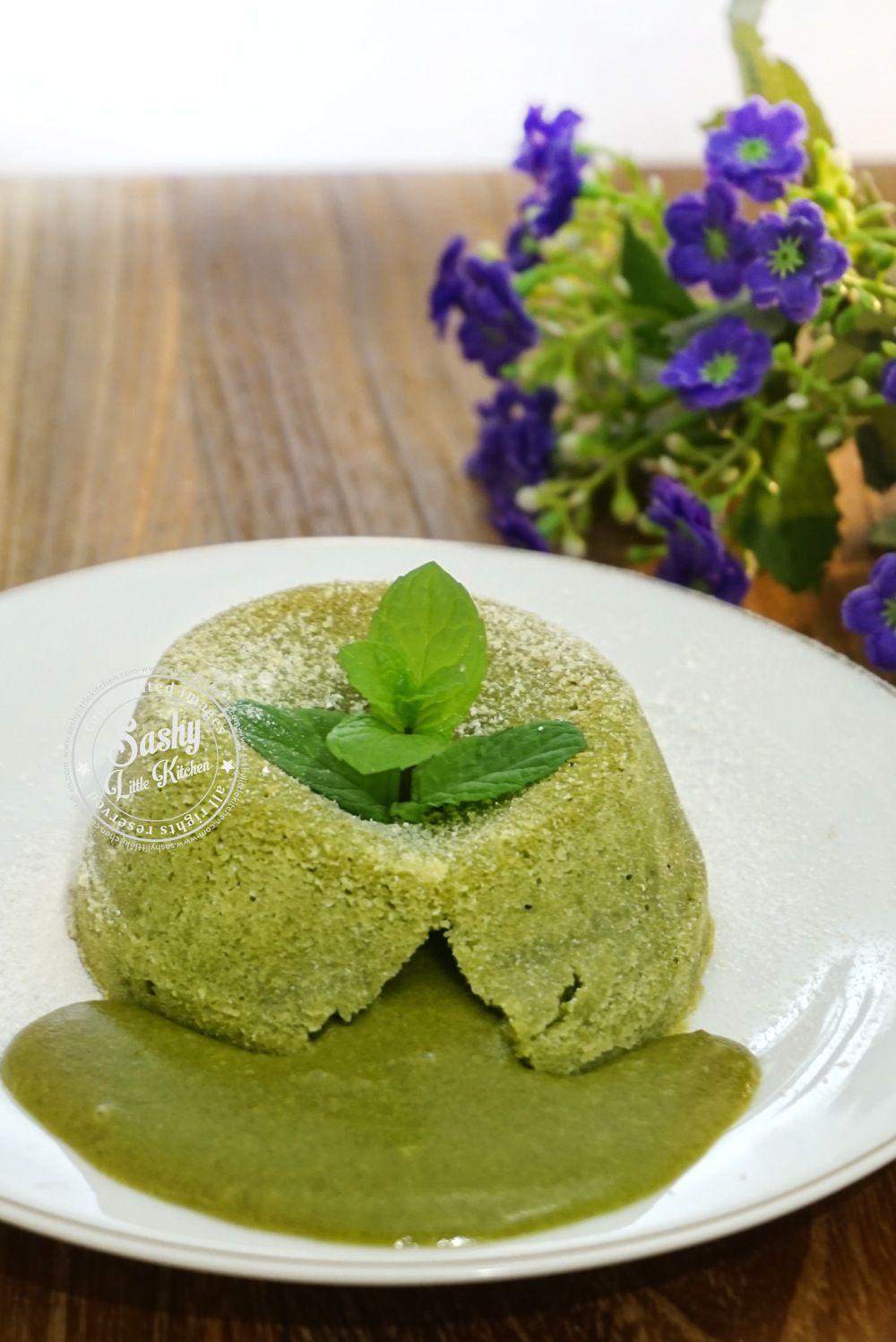 Green Tea Matcha Molten Lava Cake I Www Sashylittlekitchen Com Kue Resep