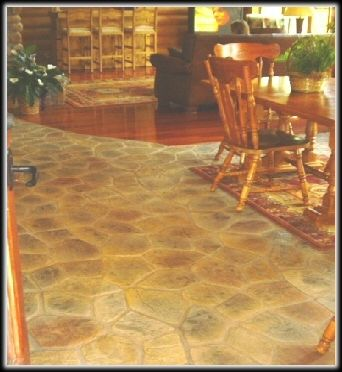 How to create faux flag stone floor diy home decor pinterest how to create faux flag stone floor solutioingenieria Images