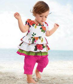 secret garden top & pants set #stylishlittlemoppets @Little_Moppets