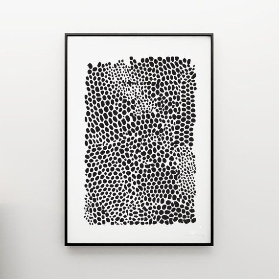 Abstract Giclee Print Snakeskin Modern Art by honeymoonhotel