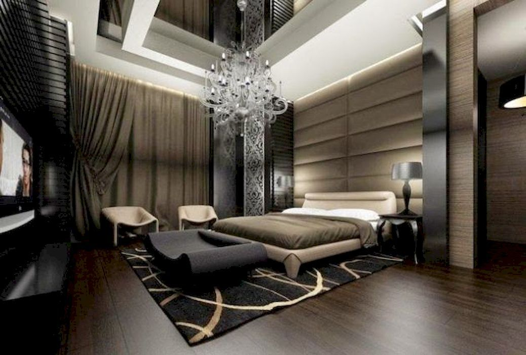 40 Charming Bedrooms Design Ideas With Extravagant Chandeliers