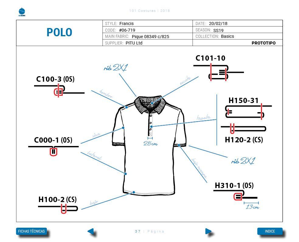 Ficha Tecnica de confeccion  Polo Basico  techpack  fashiondesigner  polo   tecnicasdecostura  costura 7c3b65eaf4af