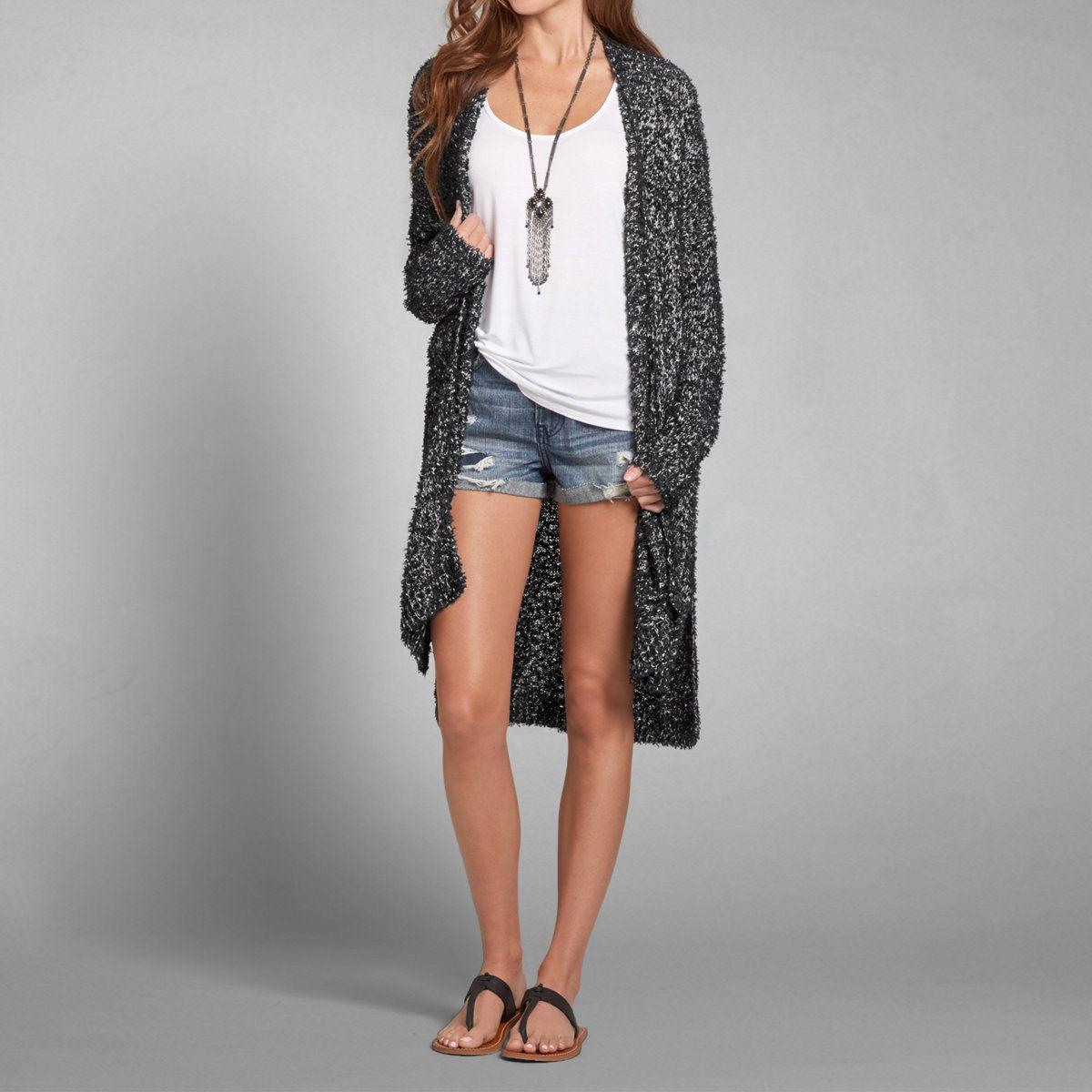 Womens Fuzzy Duster Cardigan | Womens Sweaters | Abercrombie.com ...