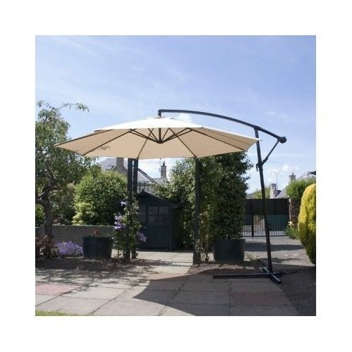 Attirant Parasol Cantilever Garden Umbrella Cover Water 3m White Sun Shade Patio  Luxury