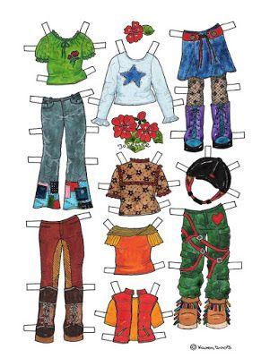 Karen`s Paper Dolls: Josefine 1-4 Paper Doll in Colours. Josefine 1-4…