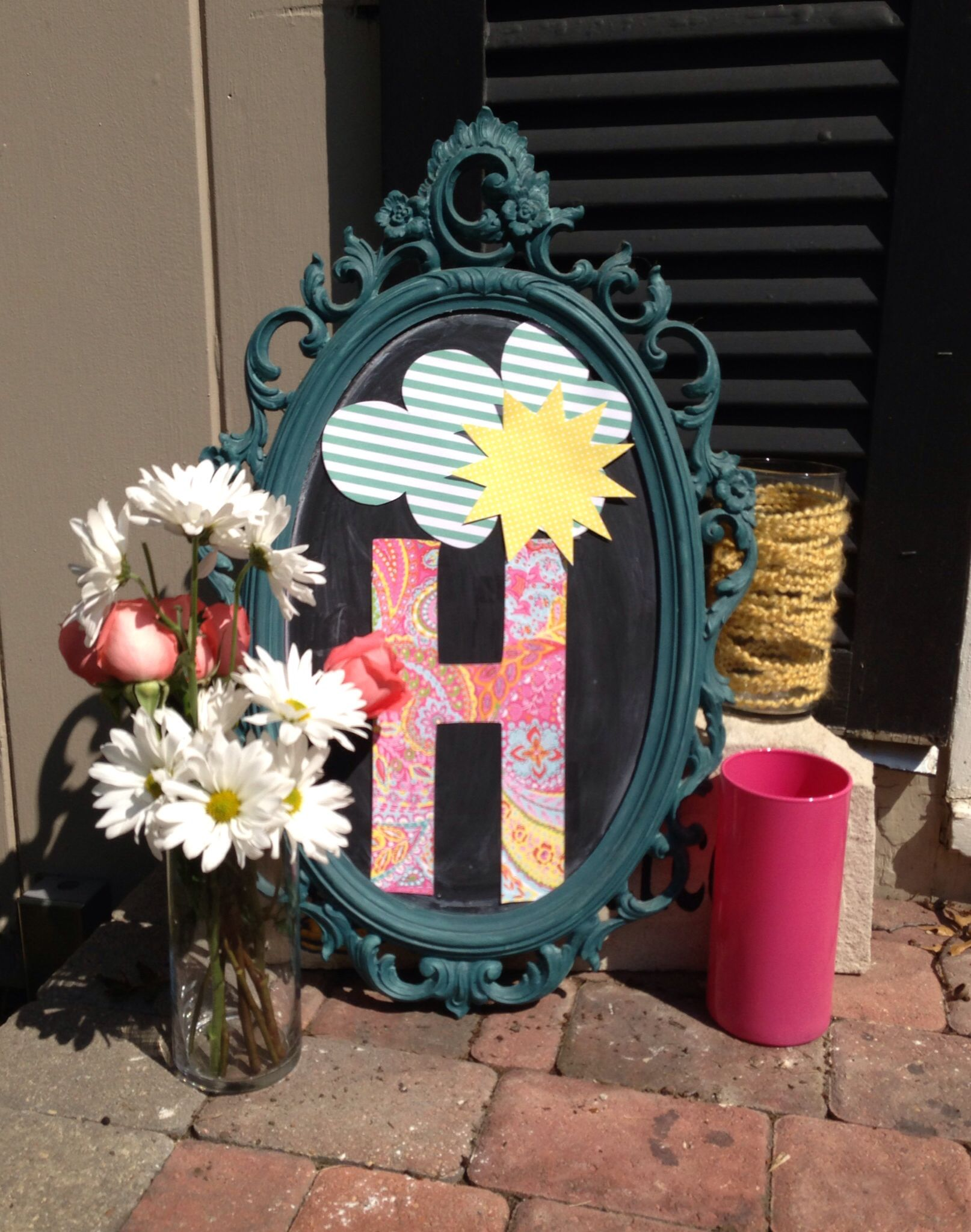 Porch decor for You are my sunshine baby shower.