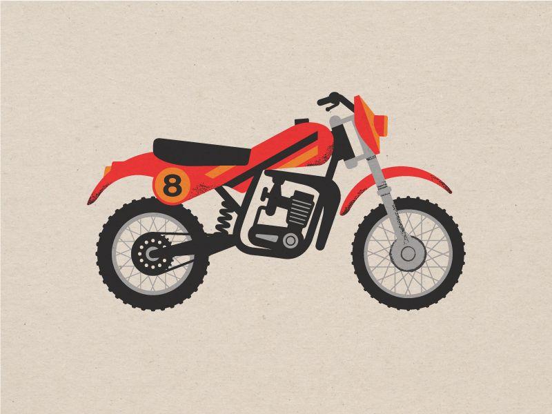 Vintage 1980 S Dirt Bike Bike Motorcycle Dirt Bike