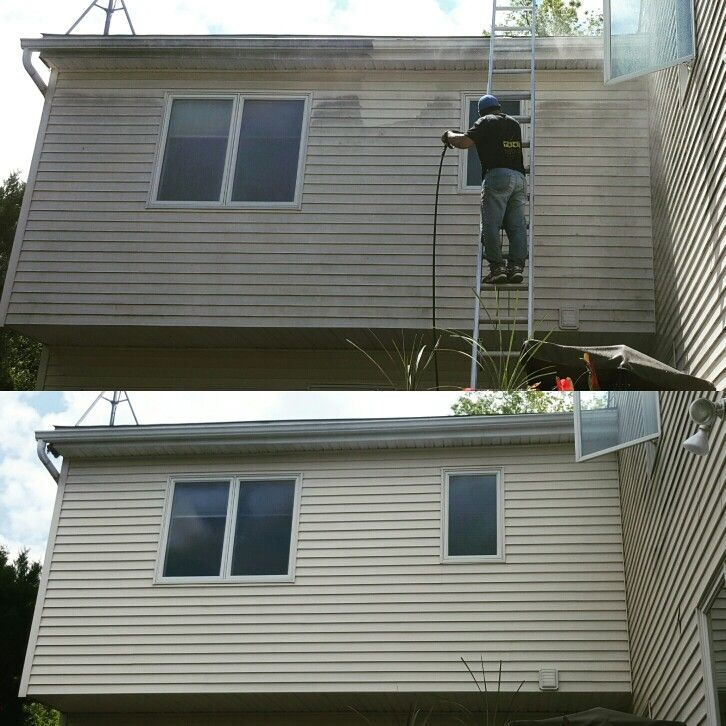 Power Wash In Dumont Nj Halfroundgutters Halfgutter Copper Coppergutters Commercial Njcondos Cont How To Install Gutters Cleaning Gutters Gutter Repair