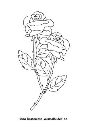 Rosen Ausmalbild Blumen Ausmalen Ausmalen Blumen Silhouette