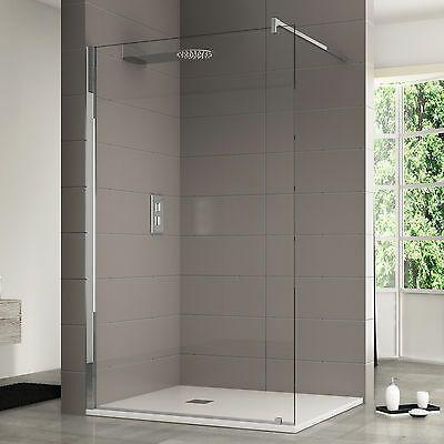 Box doccia 110 cm parete walk in cristallo anticalcare