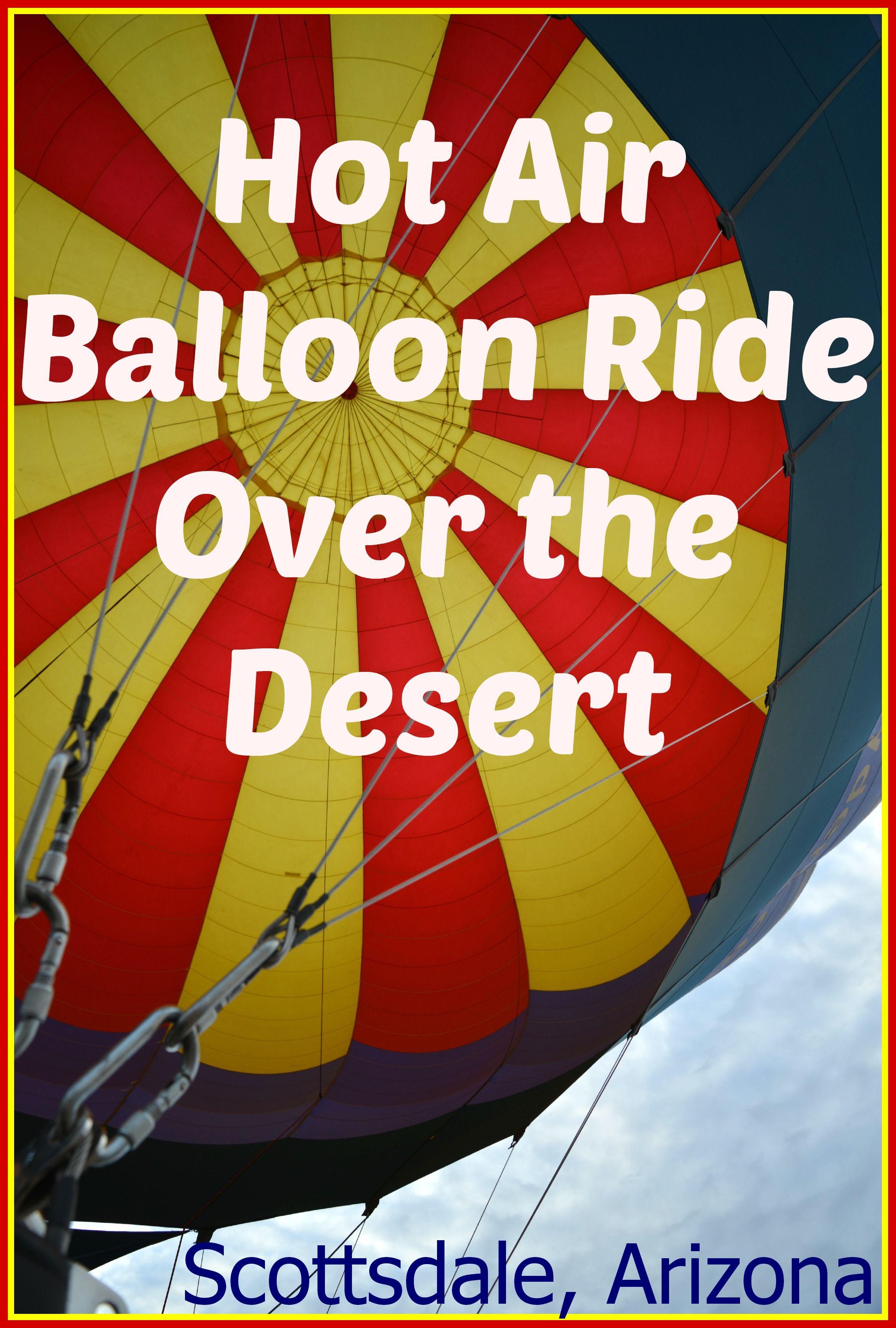 Hot Air Balloon Ride Over the Sonoran Desert w/ Rainbow