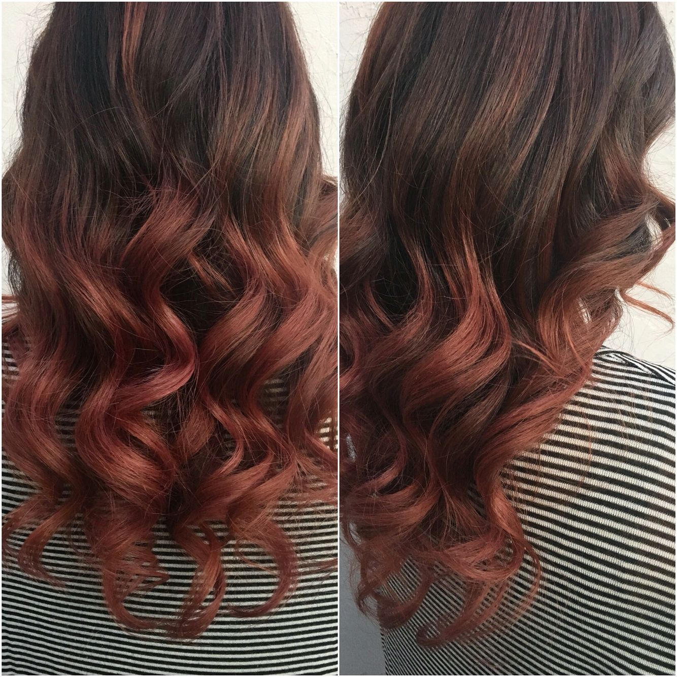 rose gold ombr dark hair