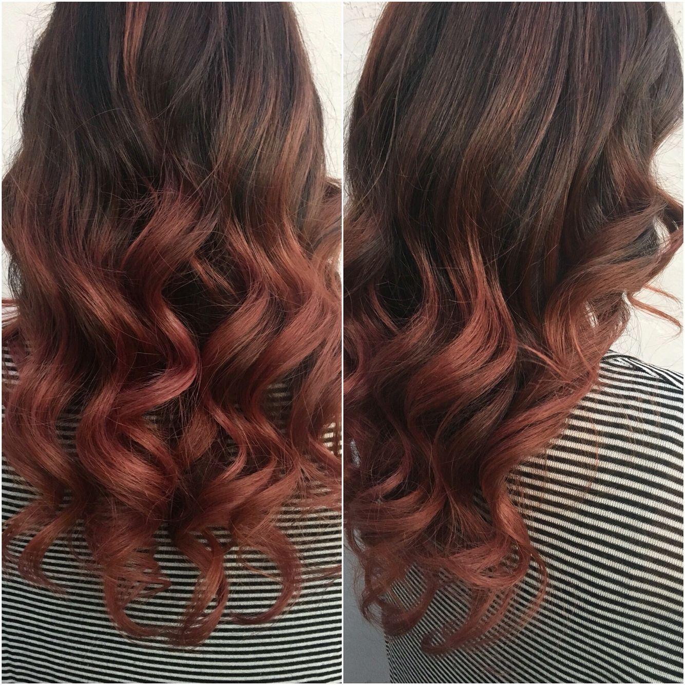 Rose Gold Ombre On Dark Hair Pelo Rosas Bella