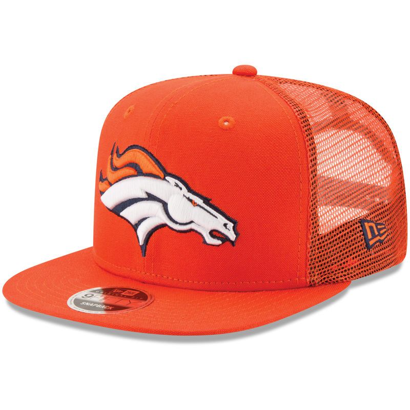 huge selection of 8de44 e346c Denver Broncos New Era Trucker Patched 9FIFTY Snapback Adjustable Hat -  Orange