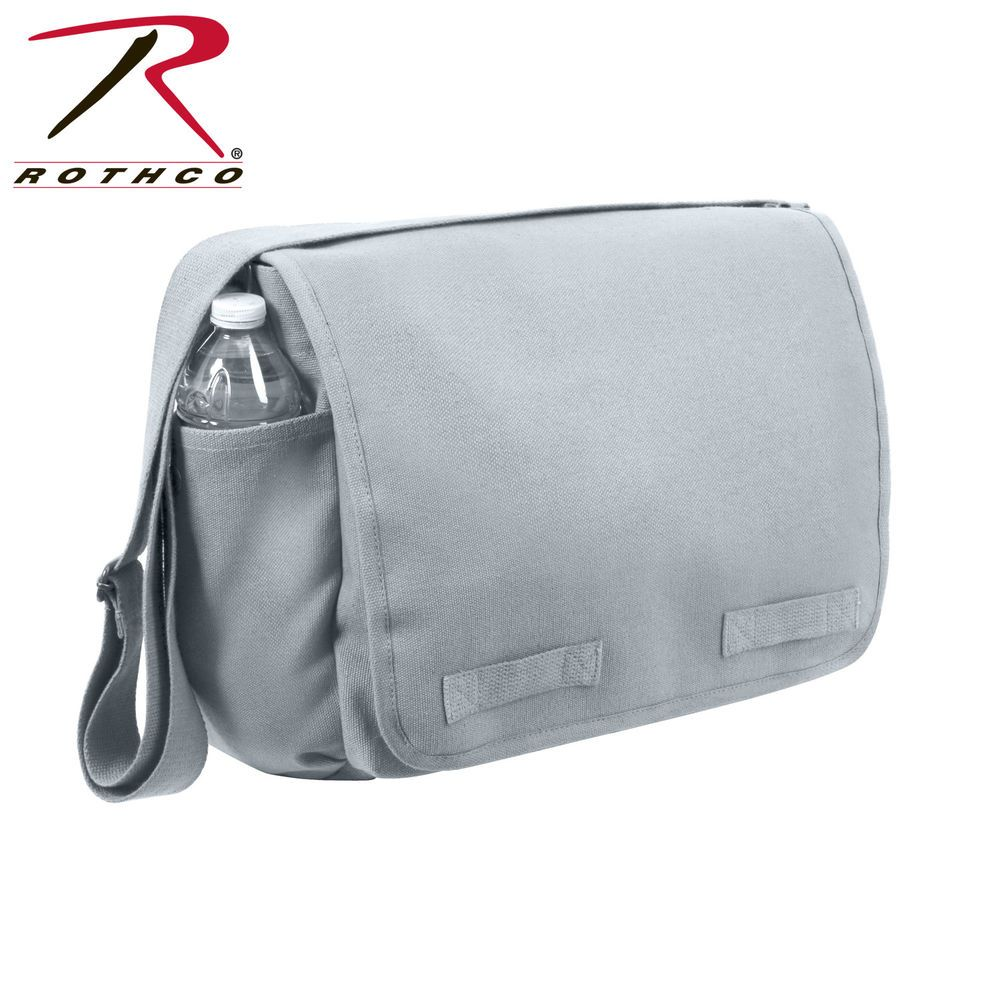 c52ffcd72e Rothco Vintage Classics Messenger Bag Stonewashed Cotton Canvas Grey   fashion  clothing  shoes  accessories  unisexclothingshoesaccs   unisexaccessories ...