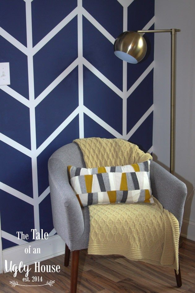 Herringbone Wall How-To - Sincerely, Marie Designs