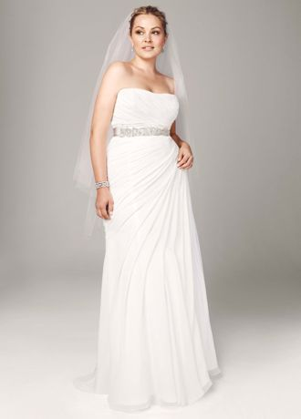 f14f0f7e1554 Stunningly simple and elegant, this crinkle chiffon wedding dress is a true  classic! Strapless