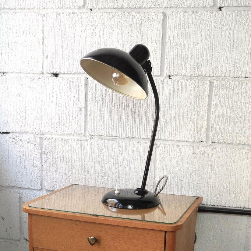 1950s Bauhaus Kaiser Idell 6556 Desk Lamp by Christian Dell - Black ...
