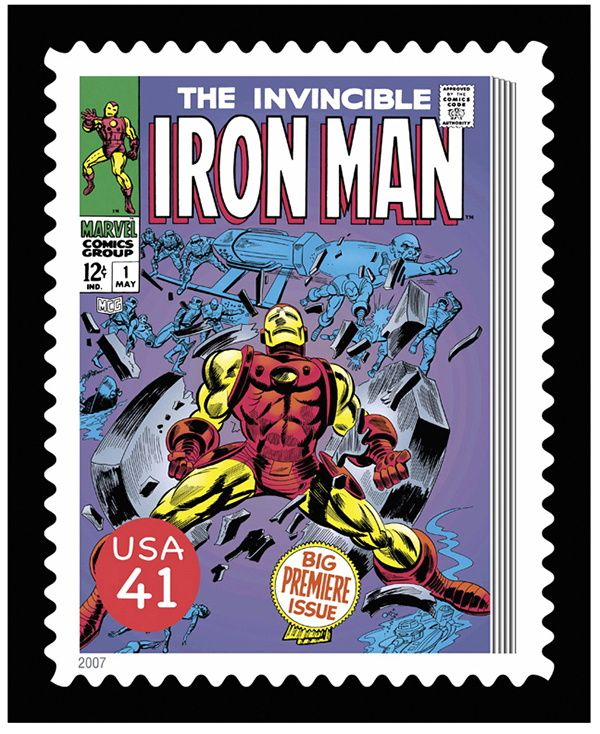 The Invincible Iron Man Issue 1 Fine Art Print Stamp
