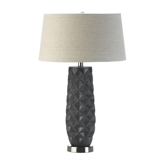 Tao Charcoal Prism Table Lamp Lamp Table Lamp Linen Lamp Shades