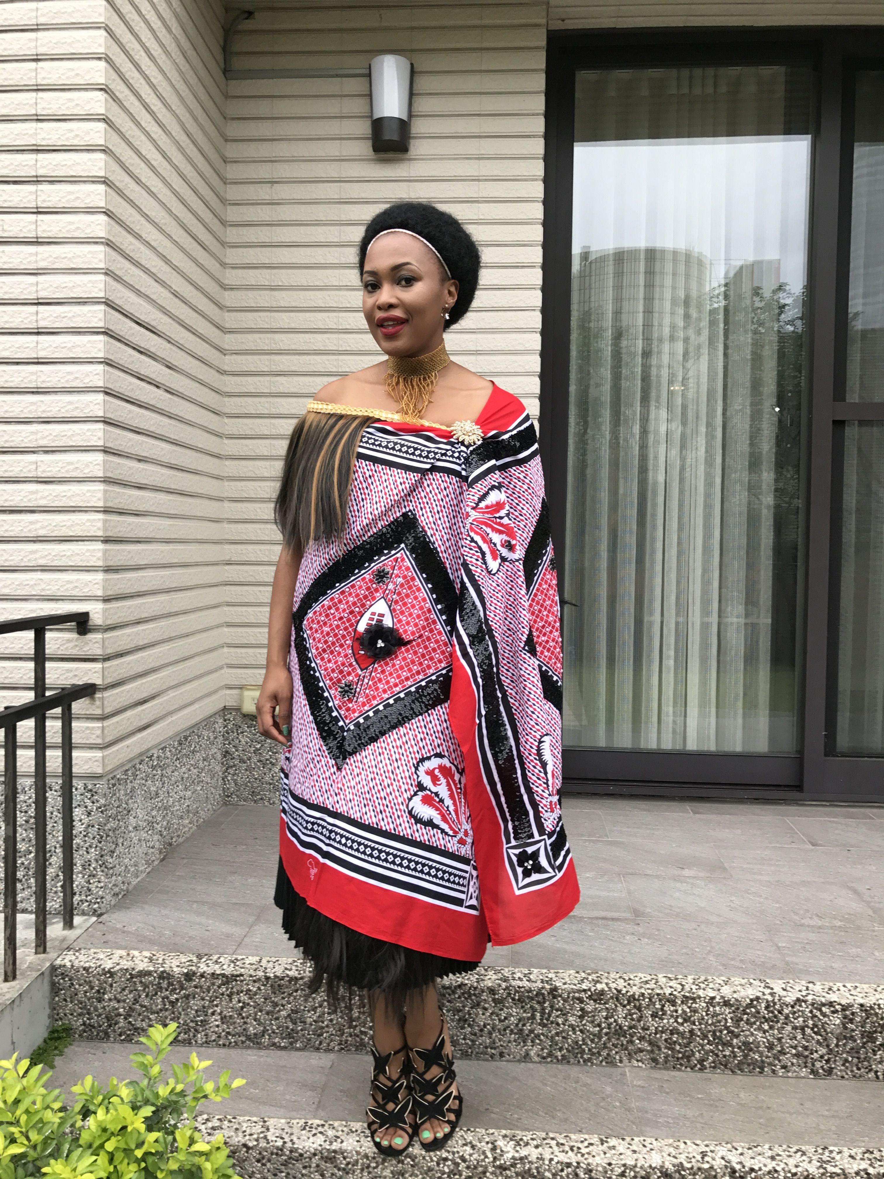 Swazi traditional attire MaLindius Wedding in Pinterest