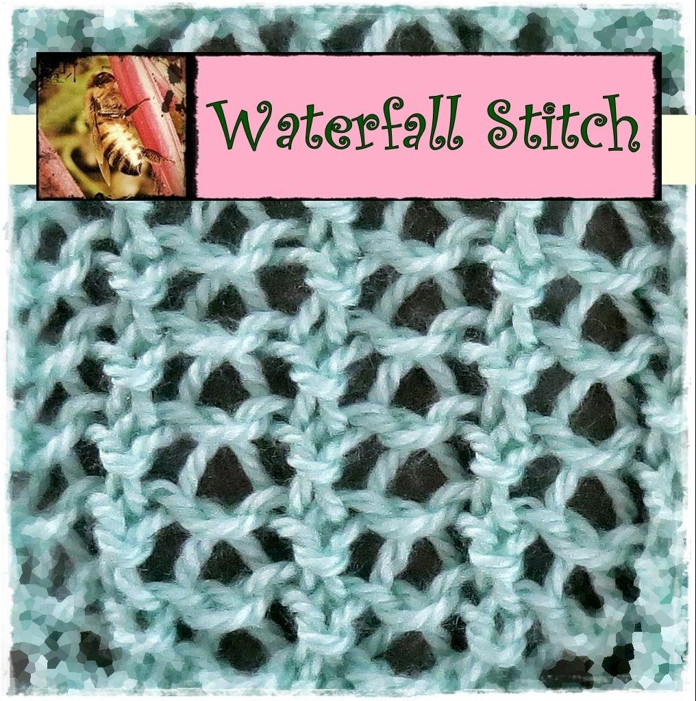 Knitting Loom Stitches : Loom knit combination of stitches to make a waterfall