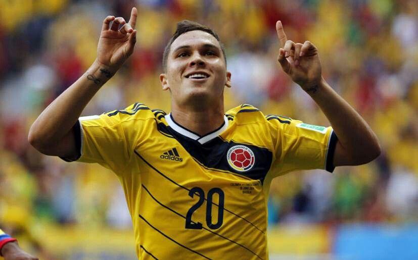 Quintero presente en el mundial de Brasil 2014.