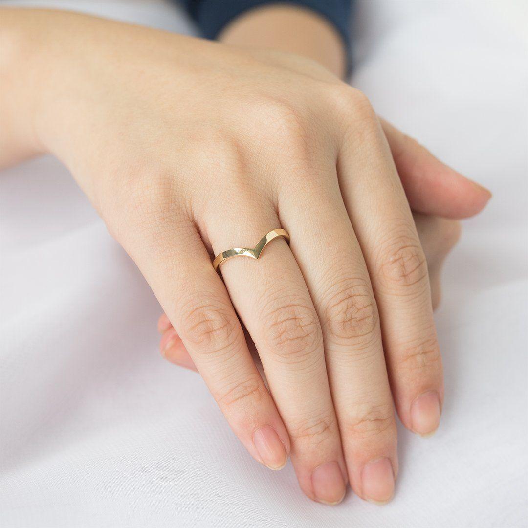 Hand Made Wedding Ring Plain 2.00mm Wide Matching Wedding Band Woman/'s 14K Rose Gold Wedding Band Stuck Band