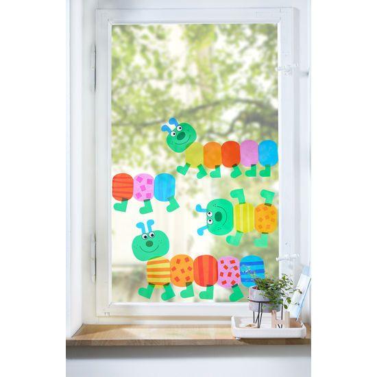 Sachenmacher Fensterbilder Raupen