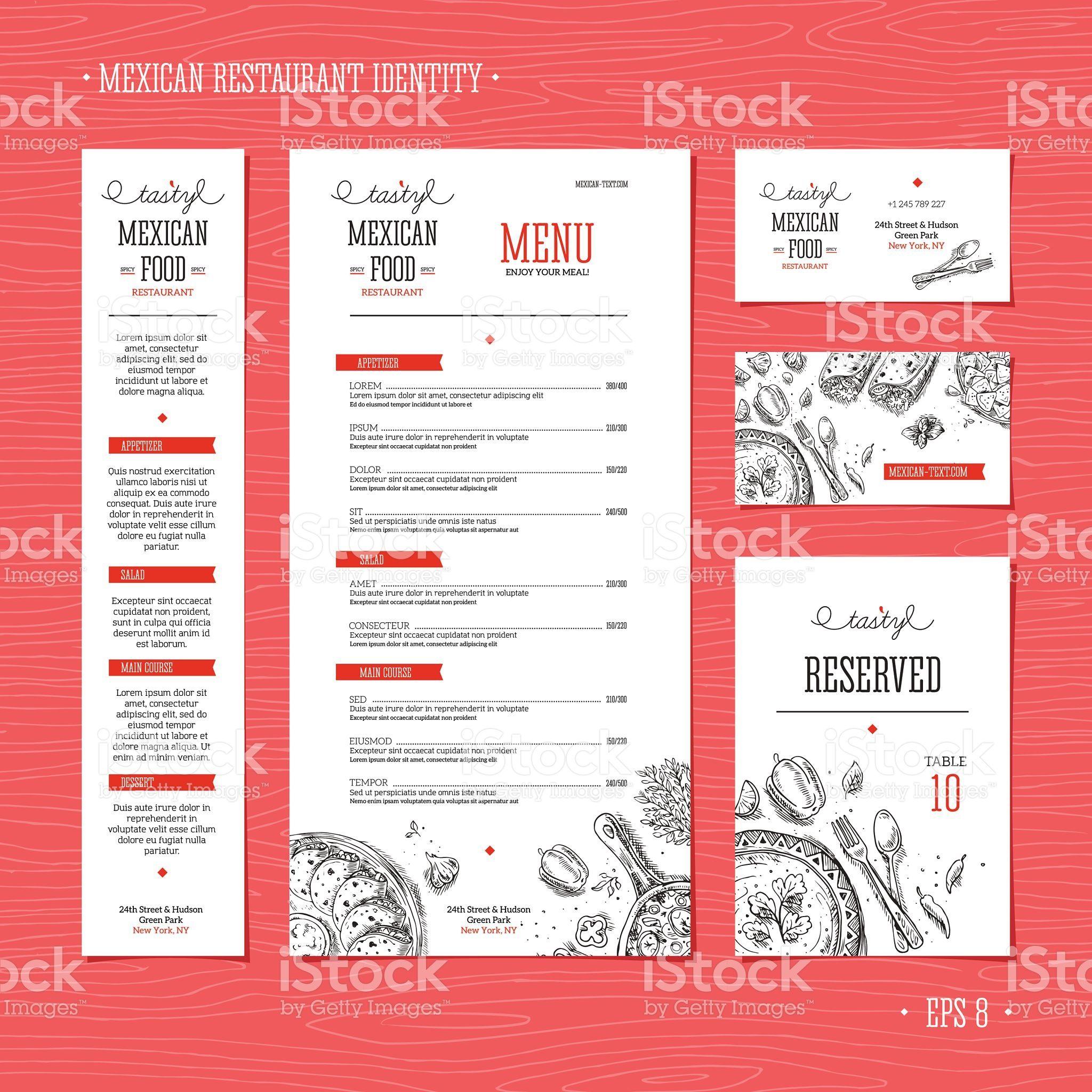 Eps 8 Restaurant Menu Template Menu Restaurant Menu Template