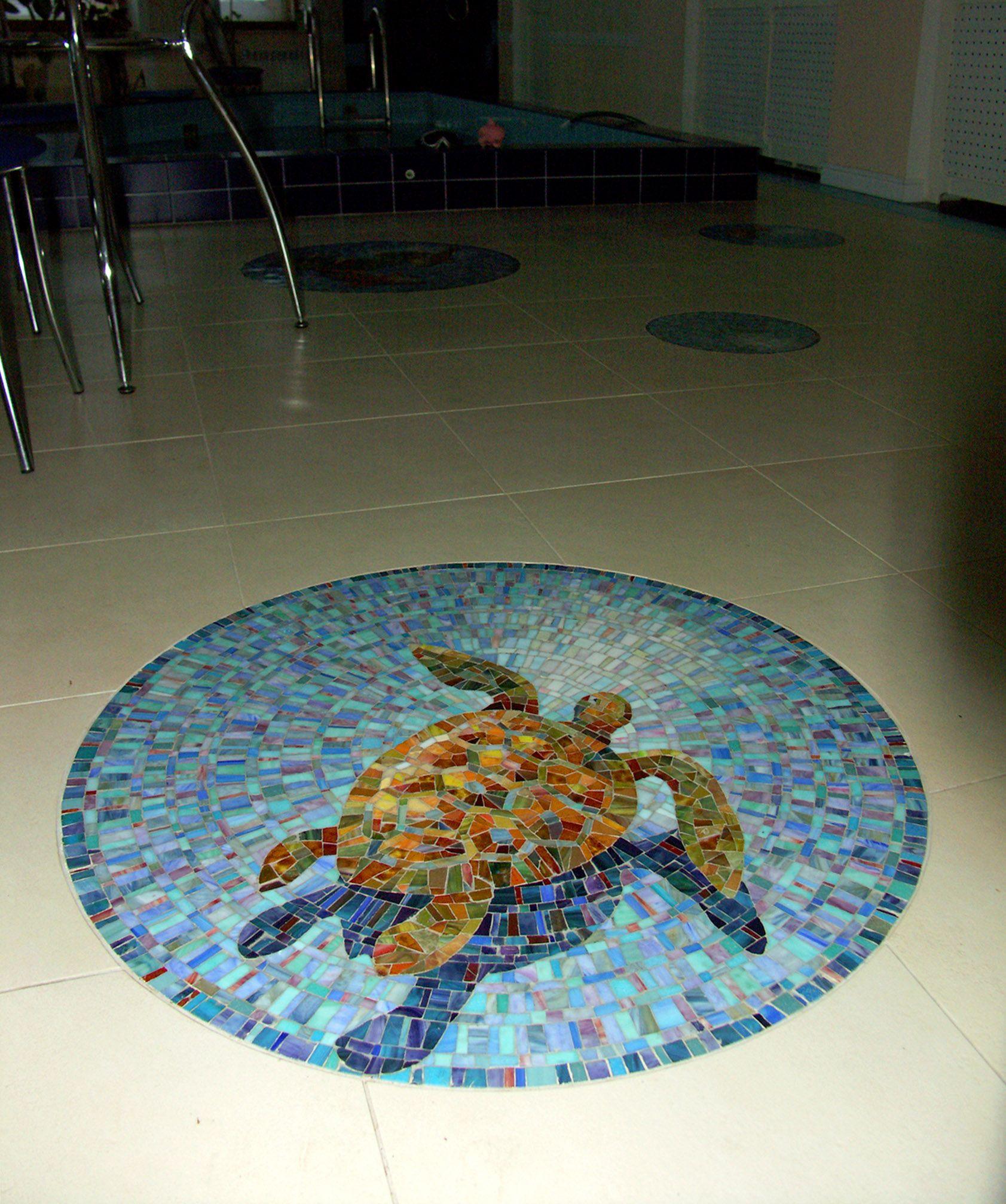 Mosaic insert in the floor | Mosaic patterns | Pinterest | Mosaics ...