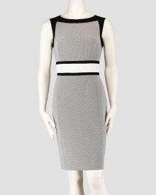 Colorblocked Sleeveless Sheath Dress