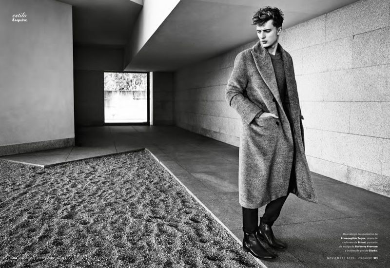 Max Rendell Dons the Dress Coat for Esquire España