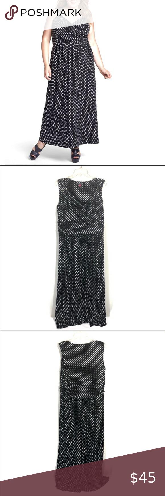 Vince Camuto Sleeveless Polka Dot Maxi Dress Gold Polka Dot Maxi Dresses Black White Maxi Dress Maxi Dress [ 1740 x 580 Pixel ]