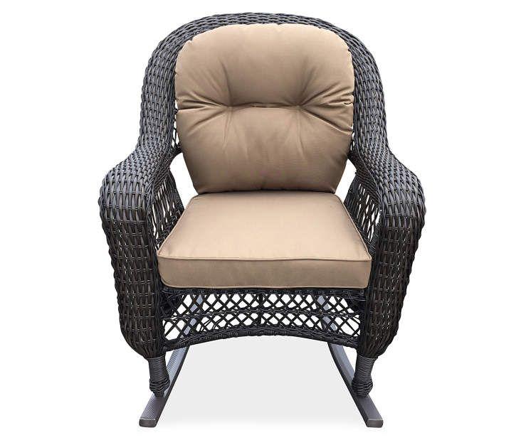 Terrific Hampstead Resin Wicker Rocker Patio Chair At Big Lots New Machost Co Dining Chair Design Ideas Machostcouk