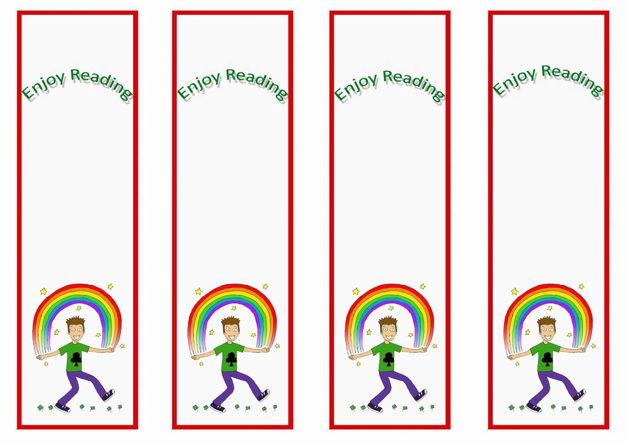 Rainbow Themed Bookmarks Themed Bookmarks