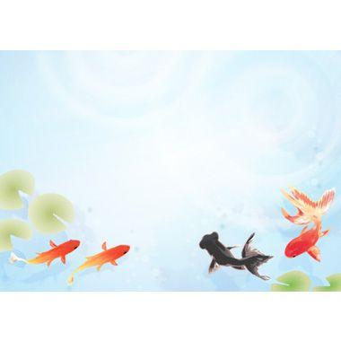 金魚の背景イラスト素材 下部 金魚 イラスト 無料 イラスト